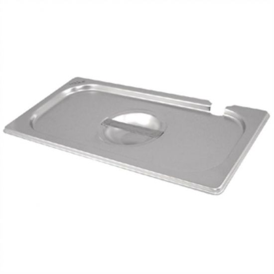 Vogue Stainless Steel 1/3 Notched Gastronorm Lid URO CB173