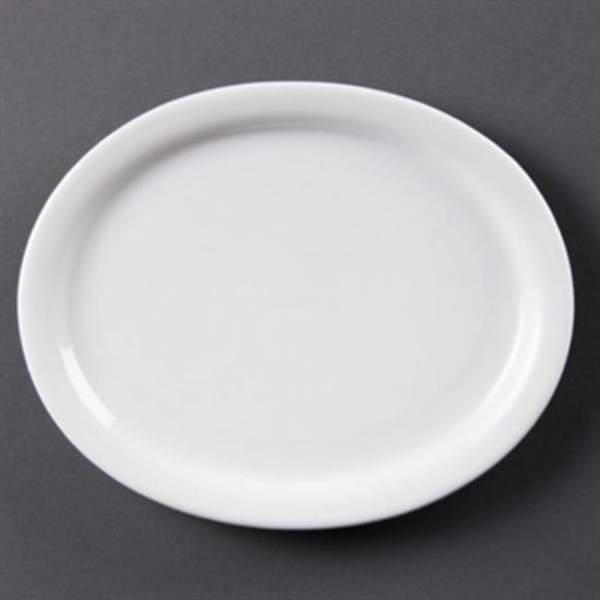 Olympia Whiteware Oval Platters 202mm Box of 6 URO CB476