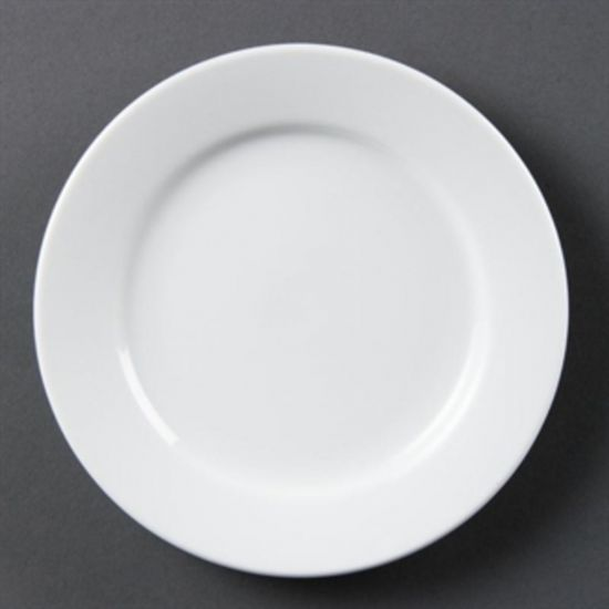Olympia Whiteware Wide Rimmed Plates 165mm Box of 12 URO CB478