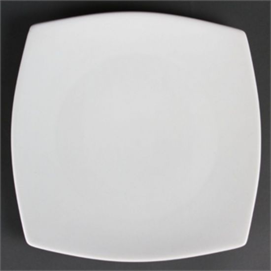 Olympia Whiteware Rounded Square Plates 270mm Box of 6 URO CB493