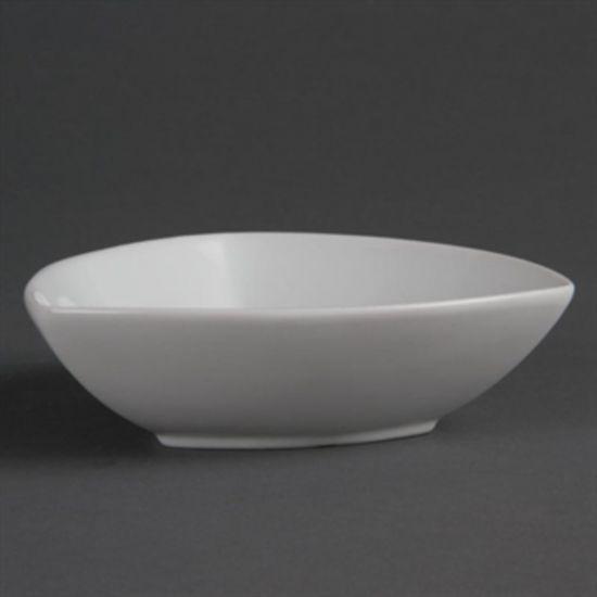 Olympia Whiteware Rounded Triangular Bowls 155mm Box of 6 URO CB678