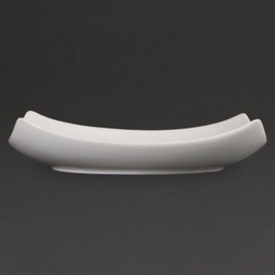 Olympia Whiteware Square Bowled Plates 205mm Box of 6 URO CB688