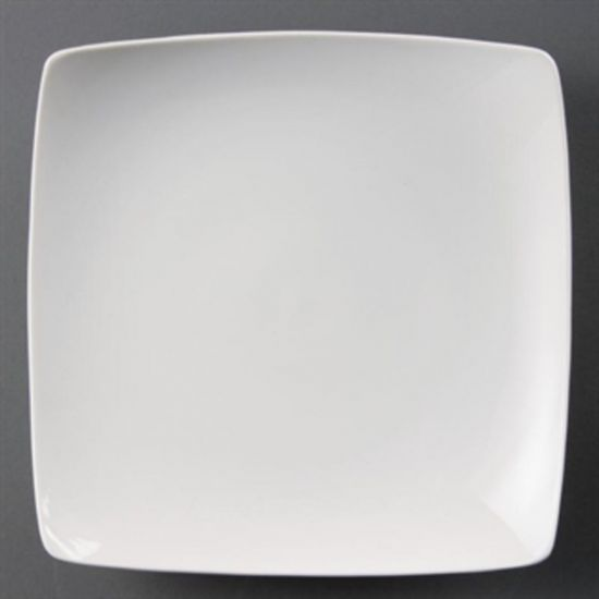 Olympia Whiteware Square Bowled Plates 250mm Box of 4 URO CB689