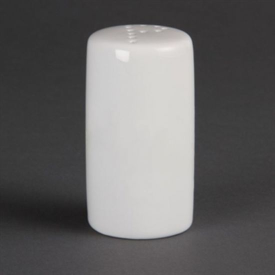 Olympia Whiteware Pepper Shakers 80mm Box of 12 URO CB703