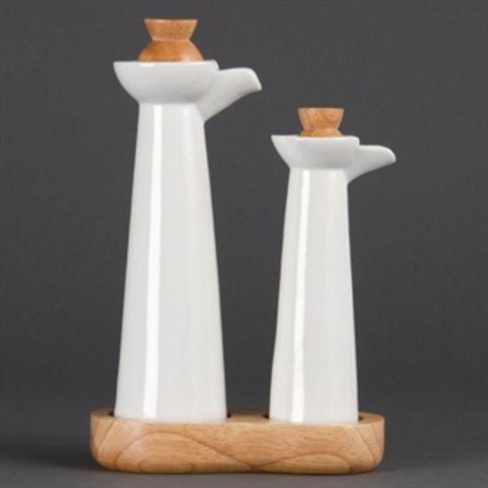 Olympia Whiteware Vinegar And Oil Set URO CB705