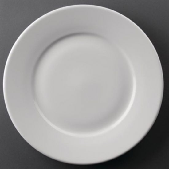 Athena Hotelware Wide Rimmed Plates 254mm Box of 12 URO CC209