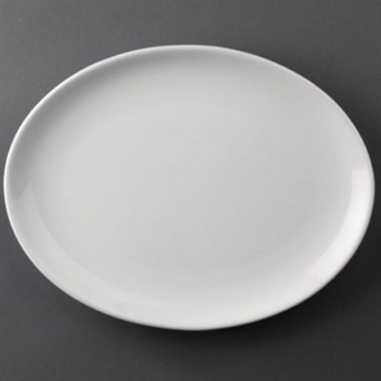 Athena Hotelware Oval Coupe Plates 254 X 197mm Box of 12 URO CC211