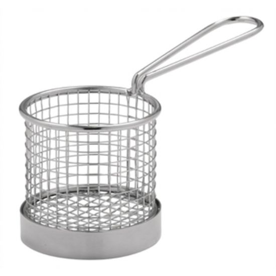 Olympia Chip Basket Round With Handle 80mm URO CE148