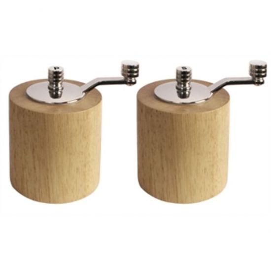 Light Wood Salt And Pepper Mill Grinder Set URO CE246