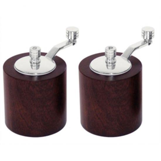Dark Wood Salt And Pepper Mill Grinder Set URO CE247