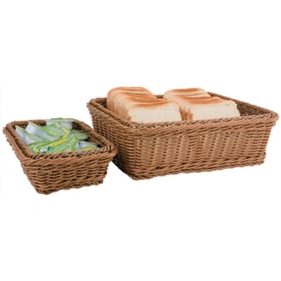 Polypropylene Brown Rattan Basket 1/2 GN URO CF306