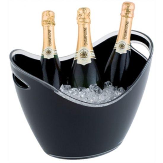 APS Black Acrylic Wine And Champagne Bucket Large URO CF311