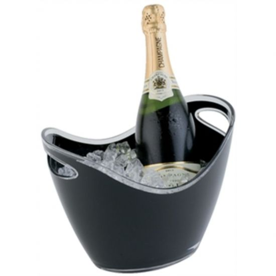 APS Black Acrylic Wine And Champagne Bucket URO CF312