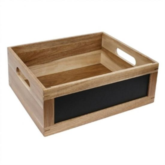 Olympia Bread Crate With Chalkboard 1/2 GN URO CL191