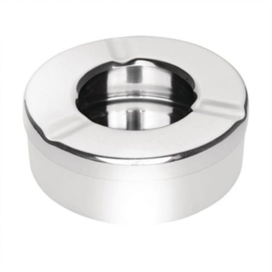Olympia Stainless Steel Windproof Ashtray 90mm Box of 6 URO CM368