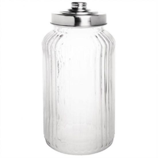 Olympia Ribbed Glass Storage Jar 1.4Ltr Box of 6 URO CM638