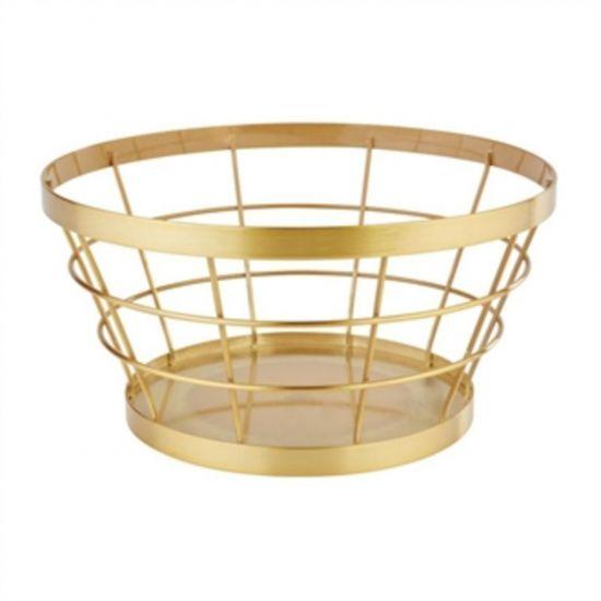 APS Plus Metal Basket Gold Brushed 110 X 210mm URO CW696