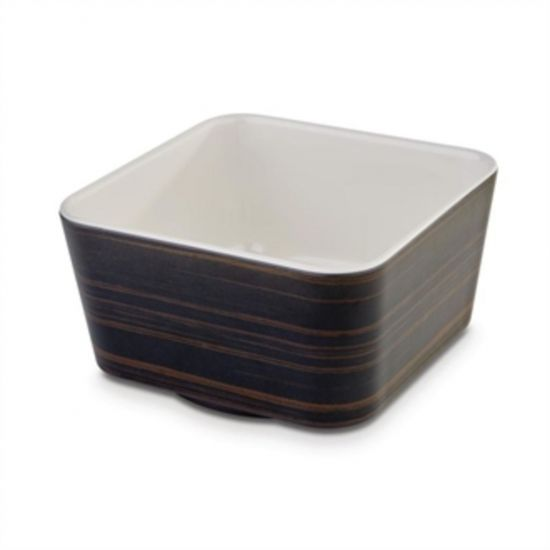 APS Plus Melamine Square Bowl Oak And Cream 700ml URO DE569