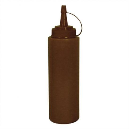 Vogue Brown Squeeze Sauce Bottle 8oz URO E624
