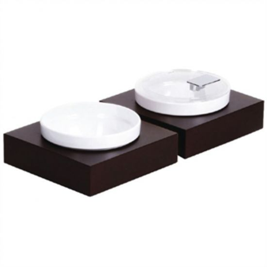 APS Frames Dark Wood Small Square Buffet Bowl Box URO GC923