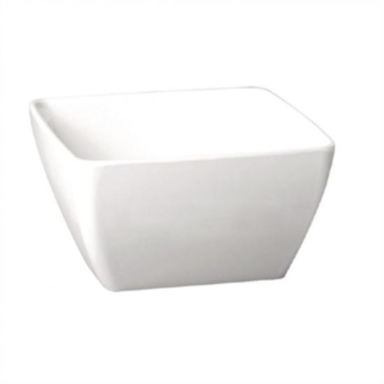 APS Pure Melamine White Square Bowl 190mm URO GF136