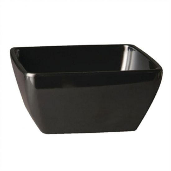 APS Pure Melamine Black Square Bowl 250mm URO GF139