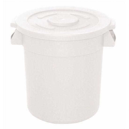 Vogue White Round Container Bin Large URO GG793