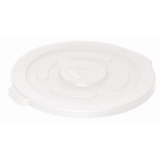 Vogue White Round Container Bin Lid Large URO GG796