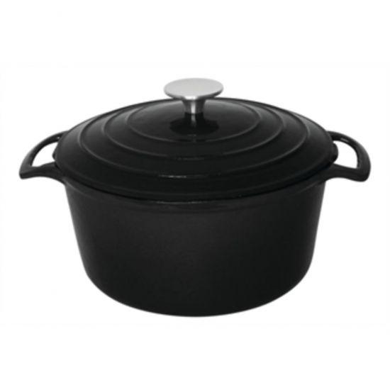 Vogue Black Round Casserole Dish 3.2Ltr URO GH300