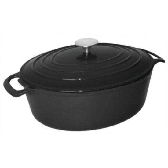 Vogue Black Oval Casserole Dish 6Ltr URO GH310