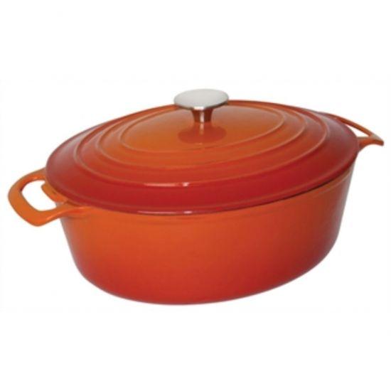 Vogue Orange Oval Casserole Dish 6Ltr URO GH312