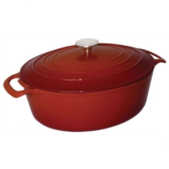 Vogue Red Oval Casserole Dish 5Ltr URO GH313