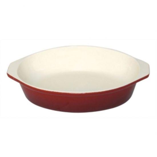 Vogue Red Round Cast Iron Gratin Dish 400ml URO GH315