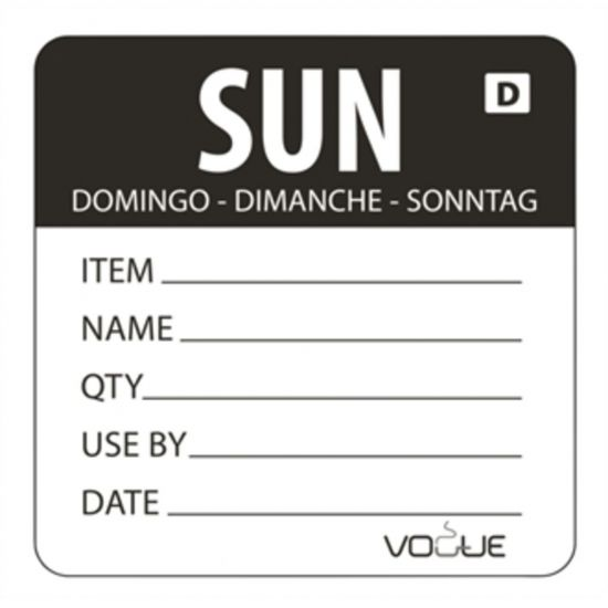 2 Inch Vogue Dissolvable Black Sunday Labels URO GH357