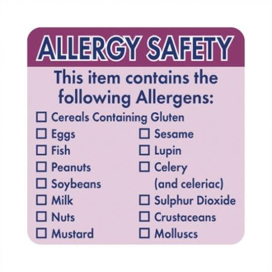 Vogue Allergen Food Labels URO GJ058