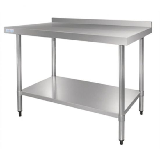 Vogue Stainless Steel Table With Upstand 1500mm URO GJ508