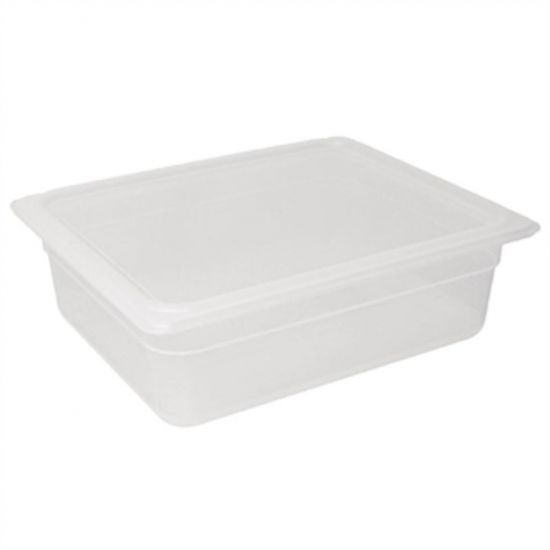 Vogue Polypropylene 1/2 Gastronorm Container With Lid 100mm URO GJ515
