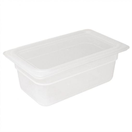 Vogue Polypropylene 1/4 Gastronorm Container With Lid 100mm URO GJ523