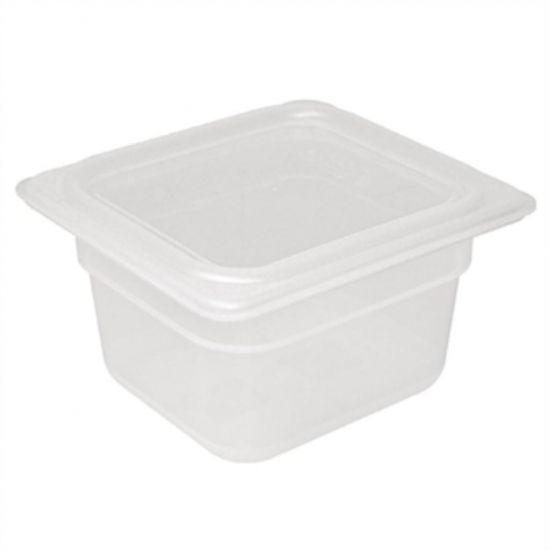 Vogue Polypropylene 1/6 Gastronorm Container With Lid 100mm URO GJ526