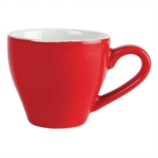 Olympia Cafe Espresso Cups Red 100ml 3.5oz Box of 12 URO GK070