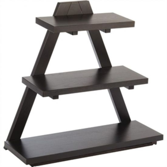 APS Triangle Wooden Buffet Stand Black URO GK818