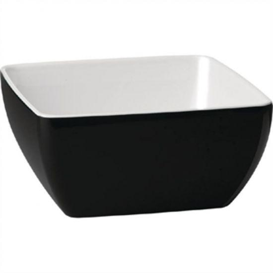 APS Pure Two Tone Bowl Melamine Black And White 250x 250mm URO GK863