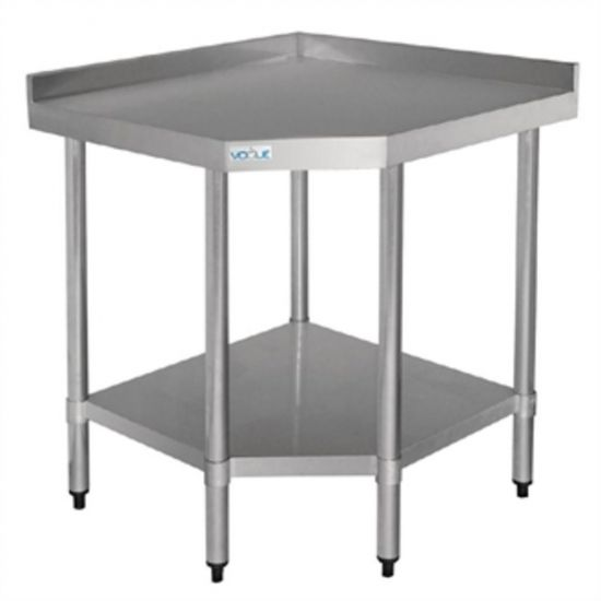 Vogue Stainless Steel Corner Table 700mm URO GL278