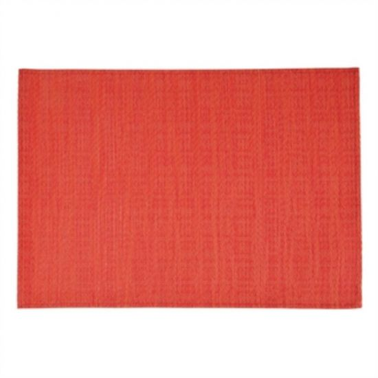 APS PVC Placemat Fine Band Red URO GL612
