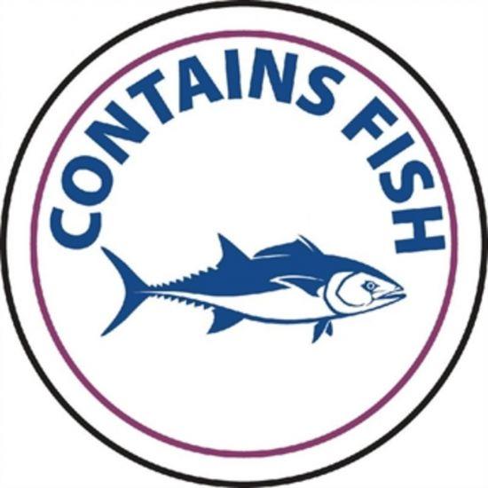 Vogue Food Allergen Label Fish URO GM802