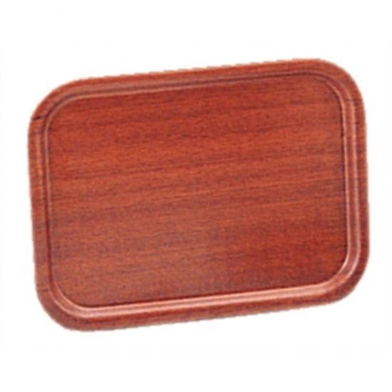 Olympia Mahogany Veneer Wooden Tray 18 X 13.5 In URO J832