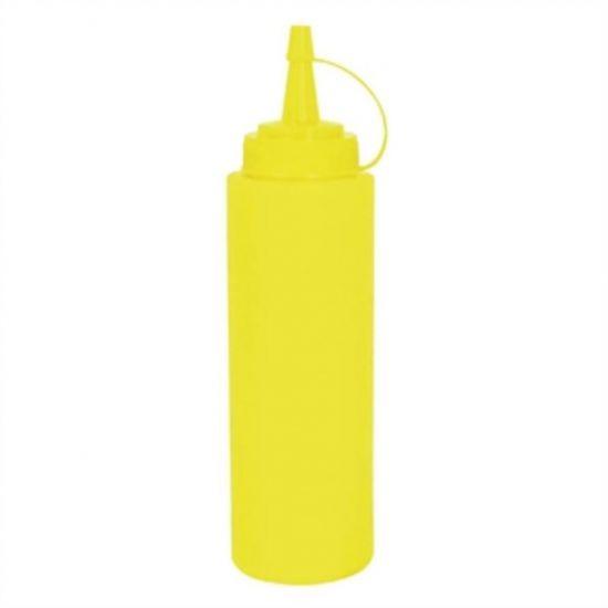 Vogue Yellow Squeeze Sauce Bottle 8oz URO K056