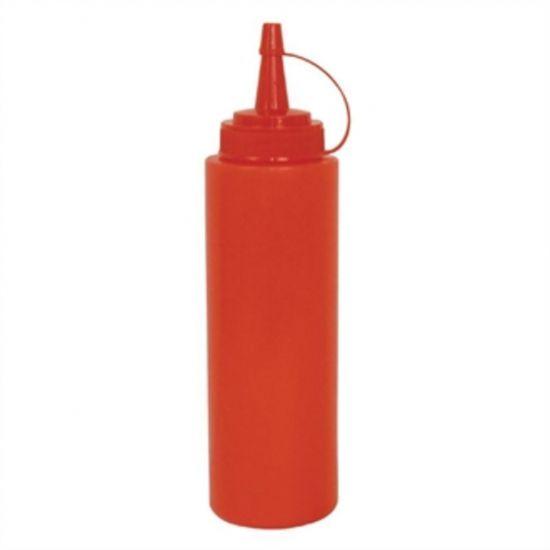 Vogue Red Squeeze Sauce Bottle 12oz URO K093