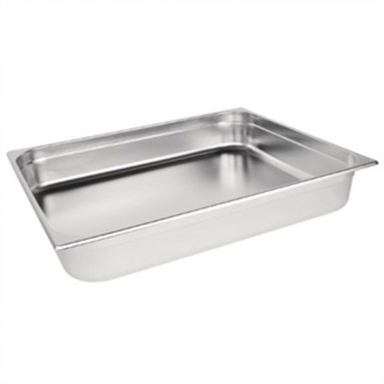 Vogue Stainless Steel 2/1 Double Size Gastronorm Pan 100mm URO K804