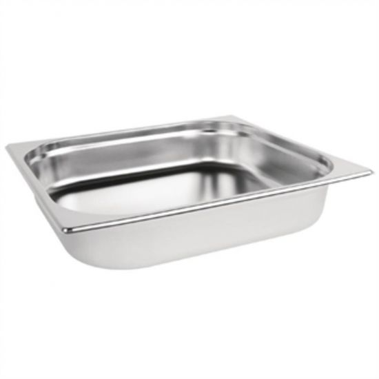 Vogue Stainless Steel 2/3 Gastronorm Pan 65mm URO K811